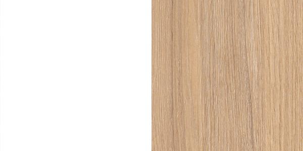 Melamine : M1D2 - Білий з окантовкою бурштинового дуба